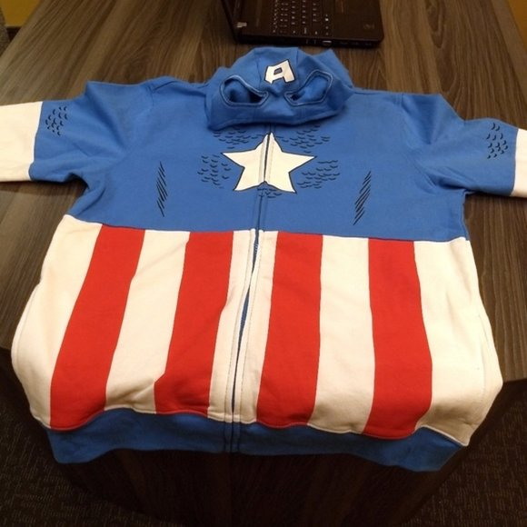 Marvel Other - CAPTAIN AMERICA HOODIE - Boys XL - Marvel Official